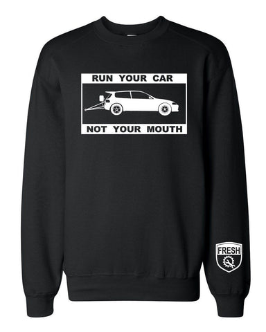 Men's RUN YOUR CAR DRAG Crewneck Sweater