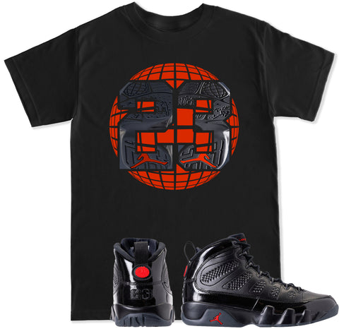 Men's Retro 9 23 Globe T Shirt