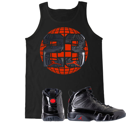 Men's Retro 9 23 Globe Tank Top