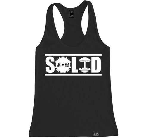 Women's SOLID Racerback Tank Top