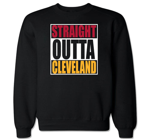 Men's Straight Outta Cleveland Crewneck Sweater