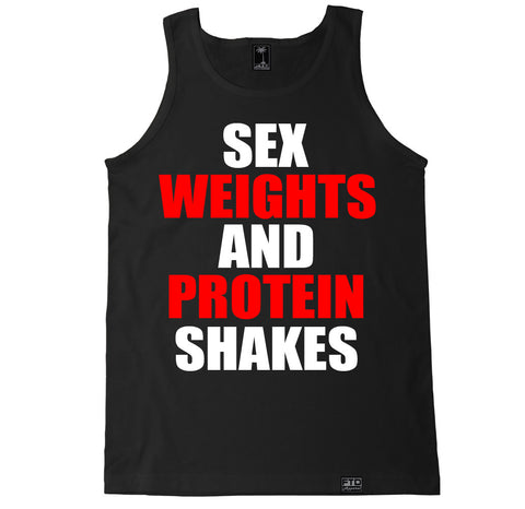Men's SEX WEIGHTS AND PROTEIN SHAKES Tank Top