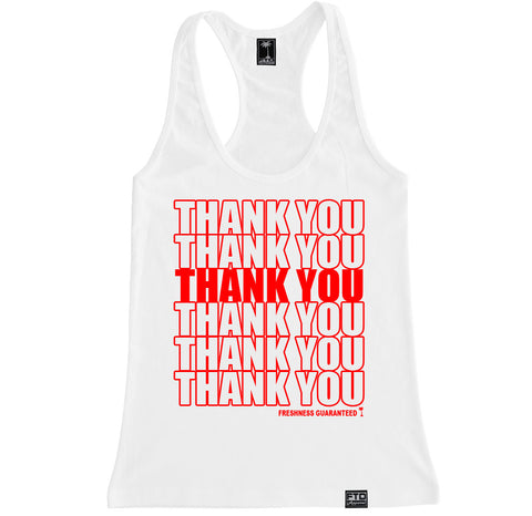 Women's THANK YOU BAG Racerback Tank Top