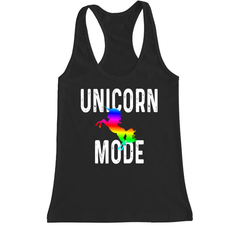 Women's Unicorn Mode Racerback Tank Top