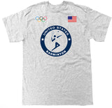Men's USA Badminton Olympic T Shirt