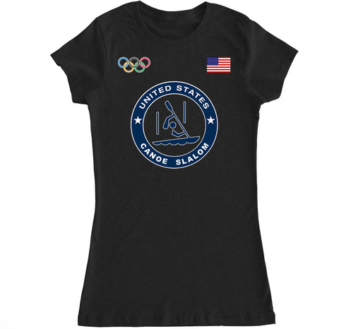 Women's USA Canoe Slalom Olympic T Shirt