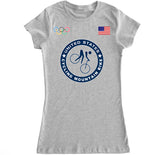 Women's USA Cycling Mountain Bike Olympic T Shirt