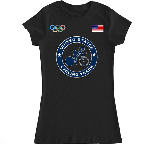 Women's USA Cycling Track Olympic T Shirt