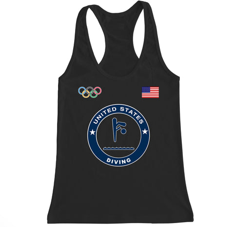 Women's USA Diving Olympic Racerback Tank Top