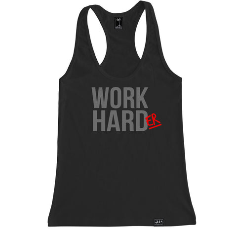 Women's WORK HARDER Racerback Tank Top