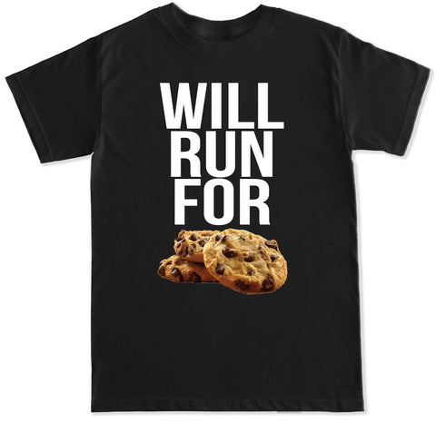 Men's WILL RUN FOR COOKIES T Shirt