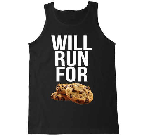 Men's WILL RUN FOR COOKIES Tank Top