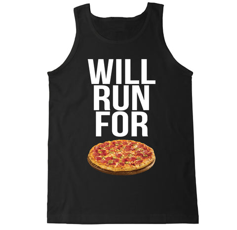 Men's WILL RUN FOR PIZZA Tank Top