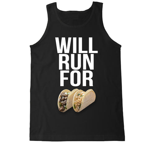Men's WILL RUN FOR TACOS Tank Top