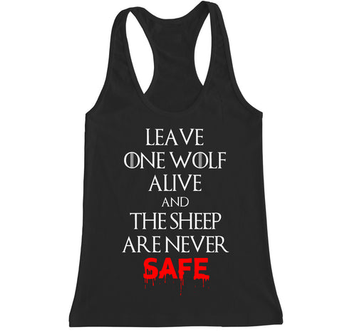 Women's WOLF AND SHEEP Racerback Tank Top