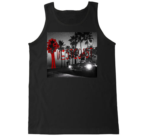 Men's Something About the Westcoast YG Blueface AllBlack Tank Top