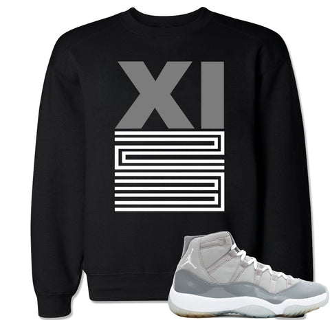 Men's XI 23 Cool Grey Crewneck Sweater
