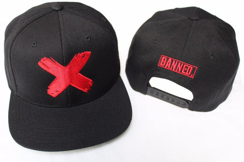 Banned X Snapback Hat