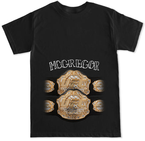 Men's 2 UFC BELTS T Shirt