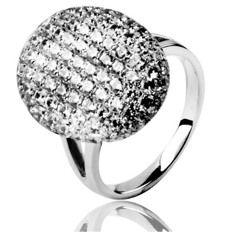 925 Sterling Silver Classic Bella Crystal Wedding Ring