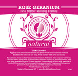image representing natural face cleanser with organic rose geranium essential oils for all skin types