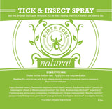 image representing natural organic bug tick insect repellent spray with essential oils
