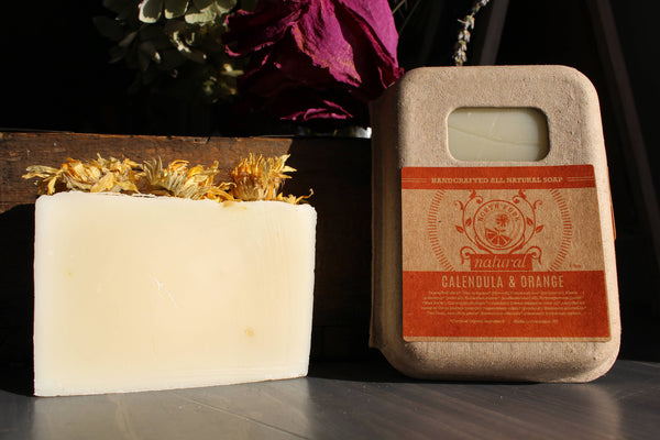 image representing calendula orange natural soap from north fork natural