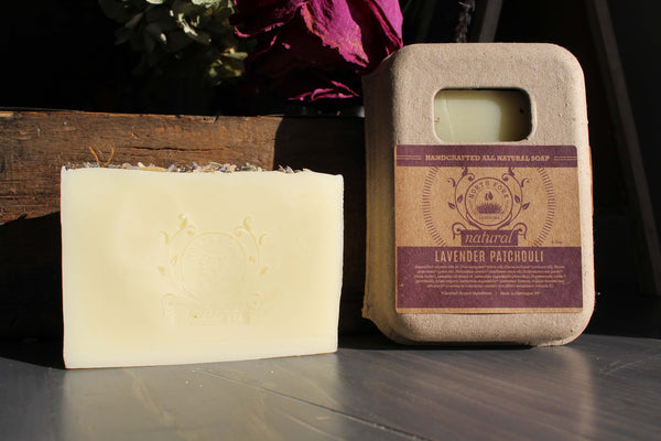 image representing lavender patchouli natural soap with essential oils from north fork natural
