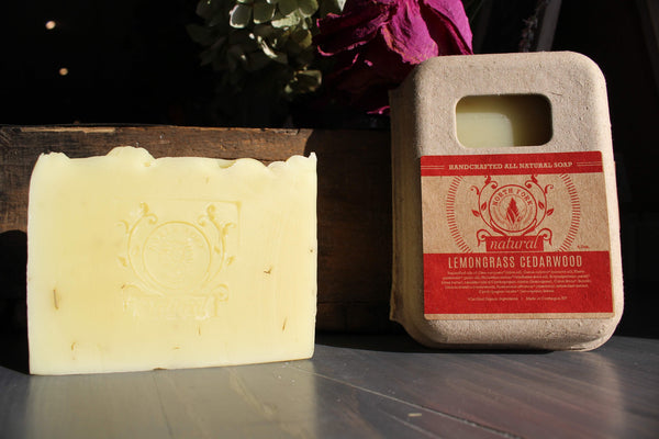 image representing lemongrass cedarwood natural soap with essential oils from north fork natural