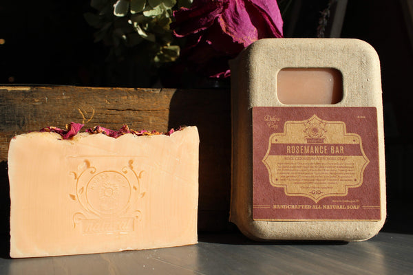 image representing rose clay natural soap with essential oils from north fork natural