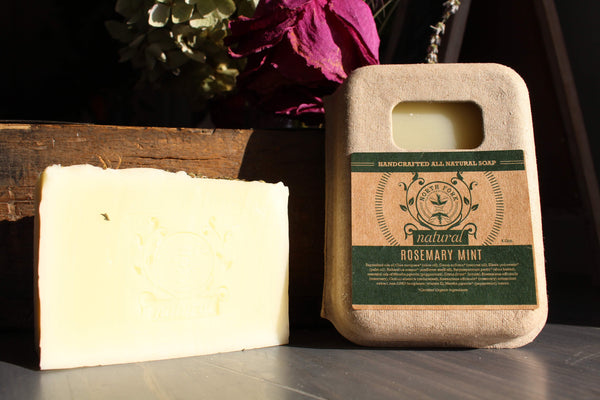 image representing rosemary mint natural soap with essential oils from north fork natural