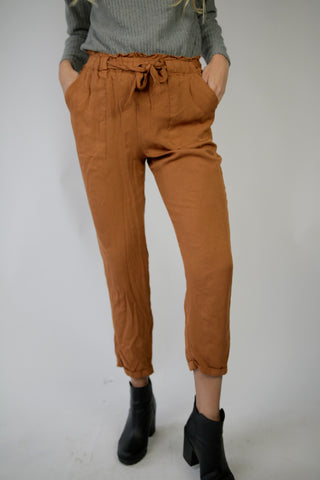 Burnt Orange High Rise Trousers