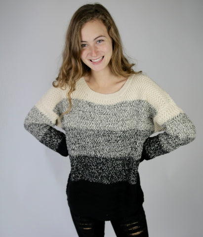 Colorless Color Block Sweater