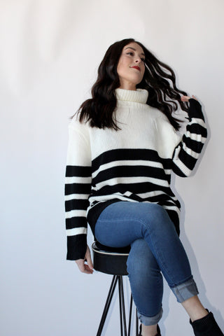 Head Strong Striped Sweater