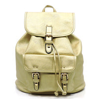 Gold Buckle Flap Backpack