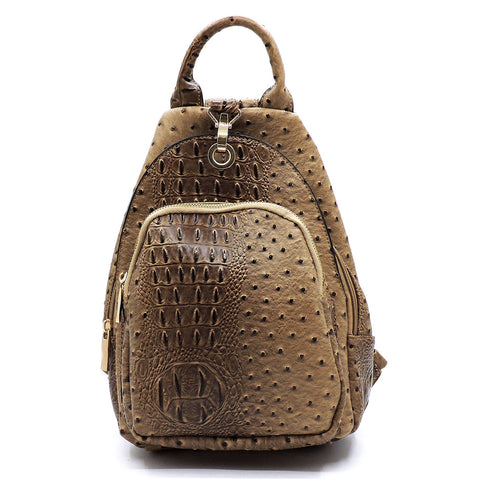 Beige Sling Backpack