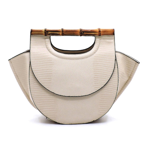 Bamboo Top Handle Satchel