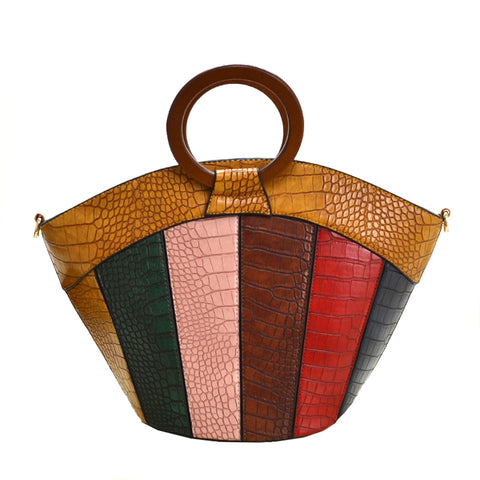 Color Block Handbag (YL)