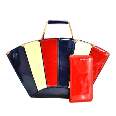 Multi - Color Block Handbag (NV)