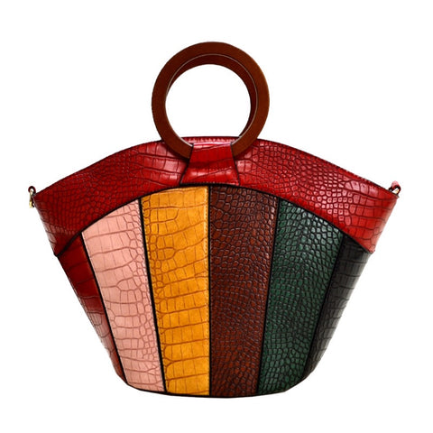 Color Block Handbag (RD)