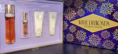White Diamonds by Elizabeth Taylor 4pc Gift Set