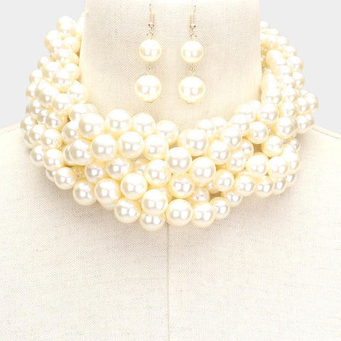 Pearl Ivory Braided Necklace