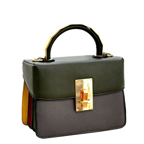 Top Handle Box Satchel Bag