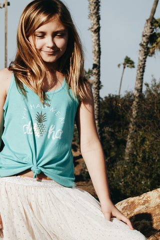 Aloha Hearts Youth Tank