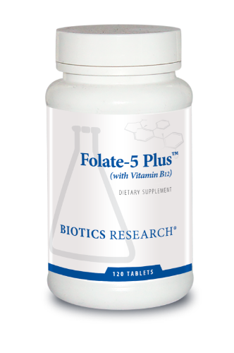 Folate-5 Plus 120T - Biotics Research NW