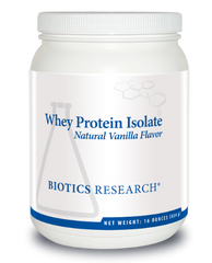Whey Protein Isolate-Vanilla 16oz. - Biotics Research NW