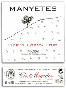 "Manyetes ""Vi de Vila Gratallops"" Red Blend 2016 750ml"