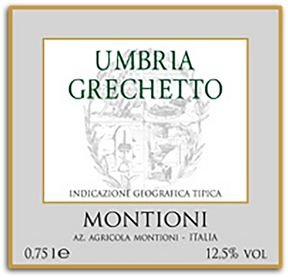 Montioni Umbria Grechetto Grechetto 2018 750ml