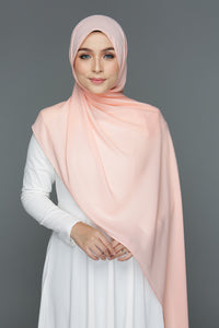 NN Basic Shawl (Peach & Cream)