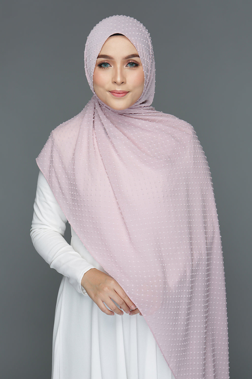 Textured shawl (Dusty Pink)